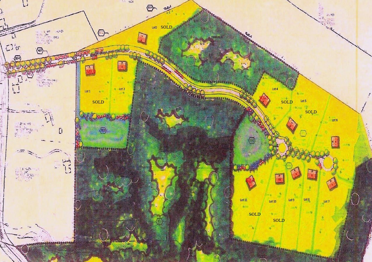 Site plan for Augusta Ridge
