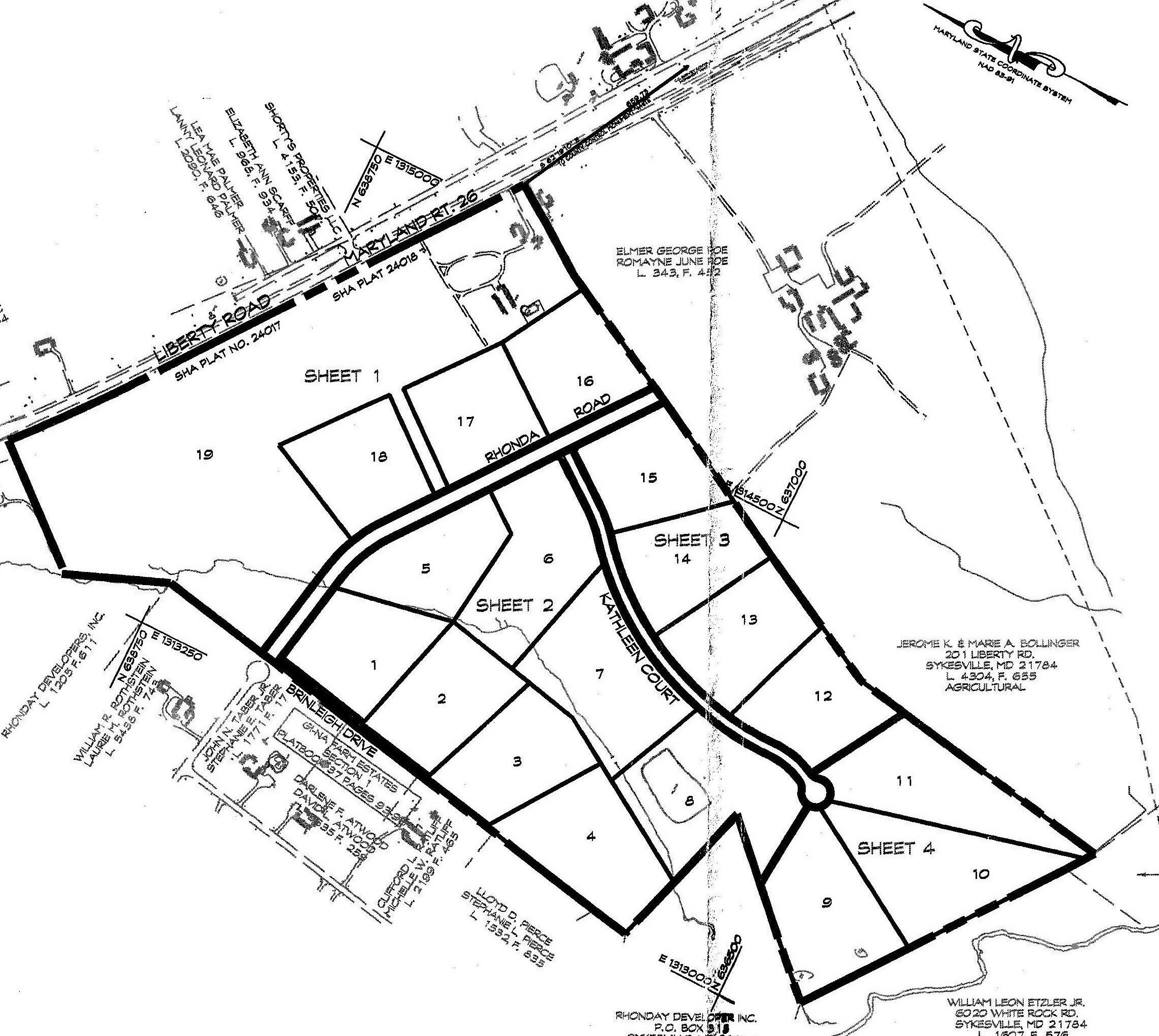 Site plan for Long Reach Farms