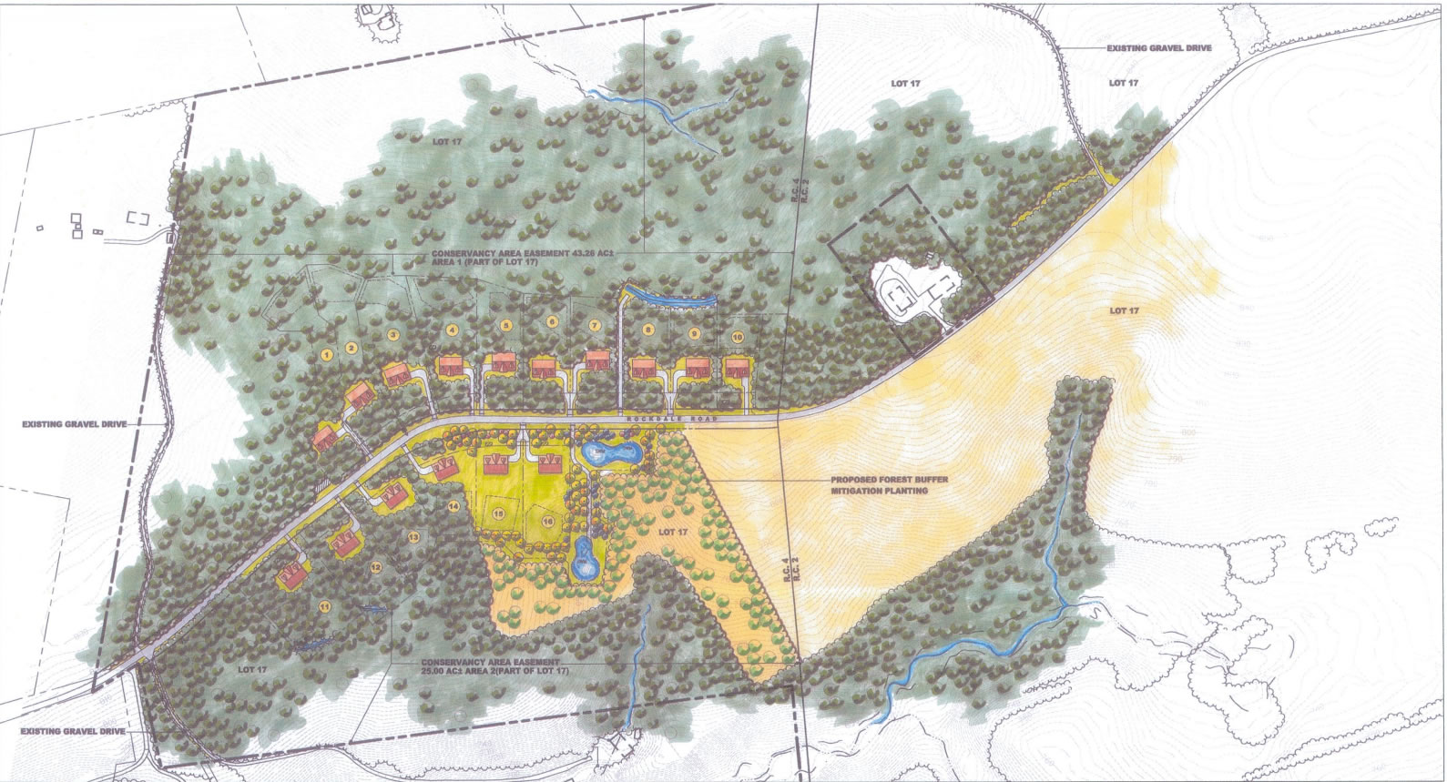 Site Plan for Tracey's Crossing