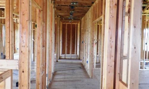 Long Reach Farms - Lot 3 Custom Build construction hallway