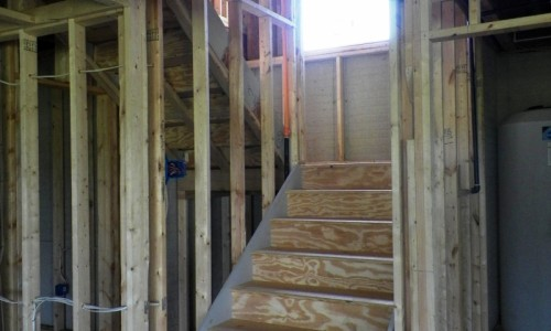 Long Reach Farms - Lot 3 Custom Build staircase construction
