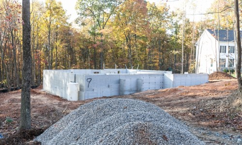 JMB HOMES Augusta Ridge - Lot 9 Sonoma foundation construction
