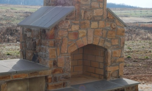Long Reach Farms - Lot 3 Custom Build outdoor fireplace