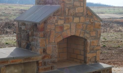 Long Reach Farms - Lot 3 Custom Build outdoor fireplace