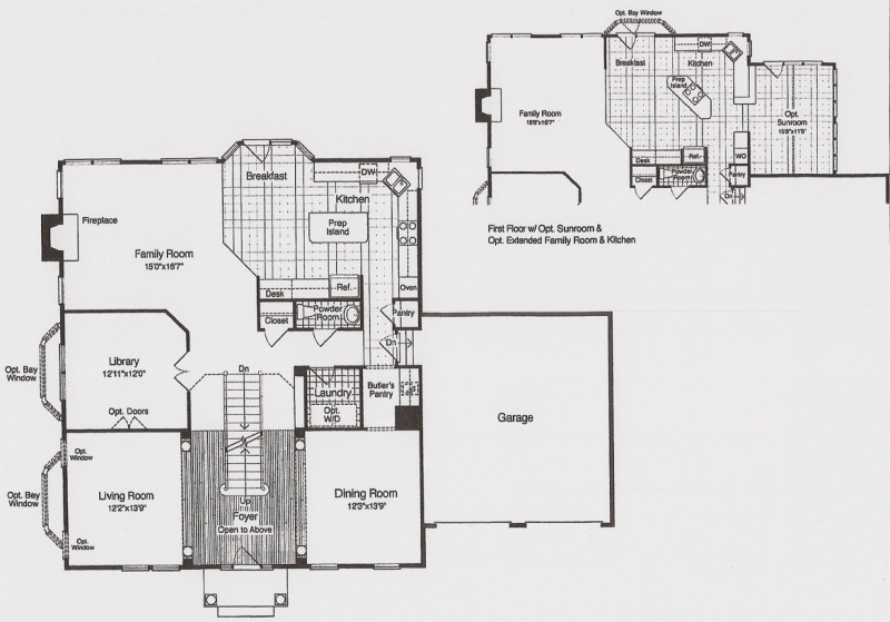 The Brookdale by JMB HOMES first floor plans