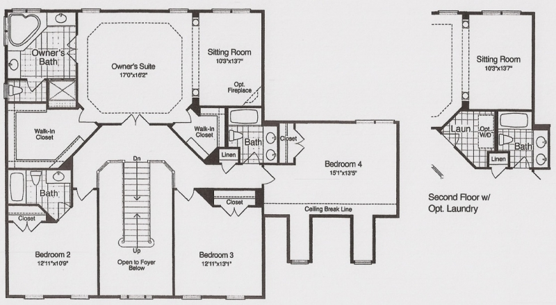The Brookdale by JMB HOMES second floor plans
