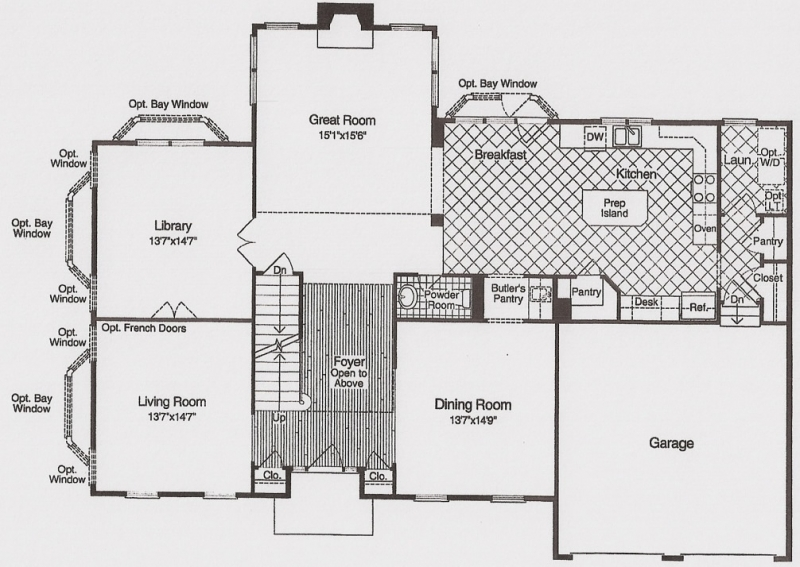 The Woodbridge first floor plans