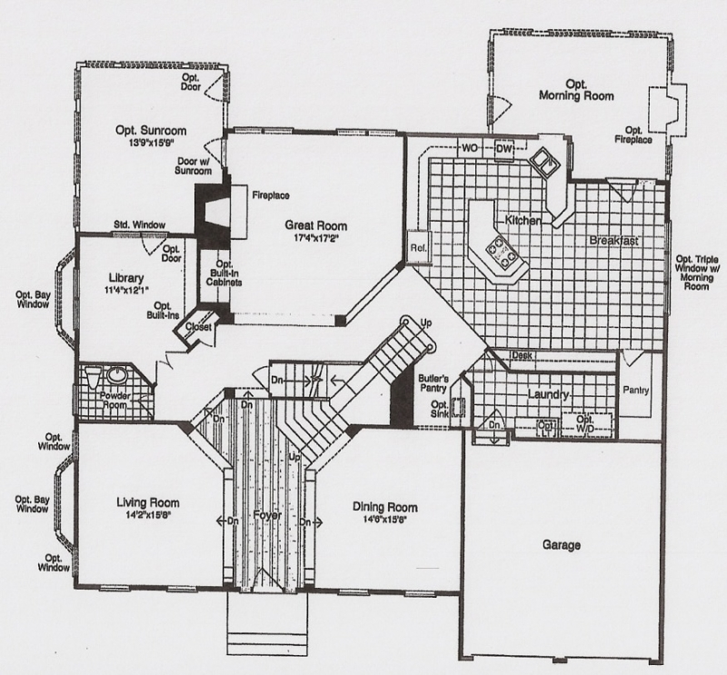 The Rutherford first floor plans