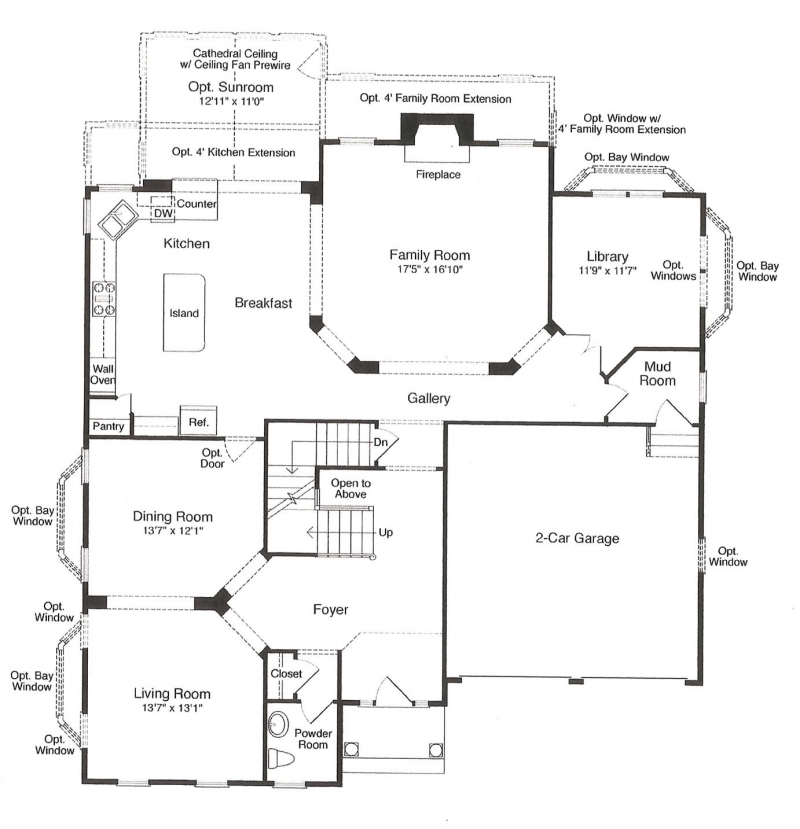 St. Clement by JMB HOMES first floor plans