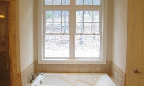 JMB HOMES West Virginia Custom Home bath with a view