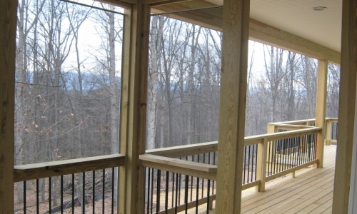 JMB HOMES West Virginia Custom Home back porch