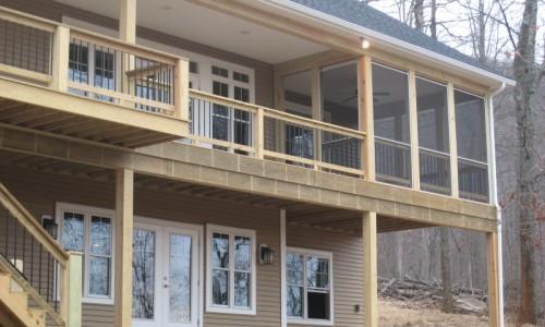JMB HOMES West Virginia Custom Home exterior back view
