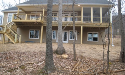JMB HOMES West Virginia Custom Home back woods view