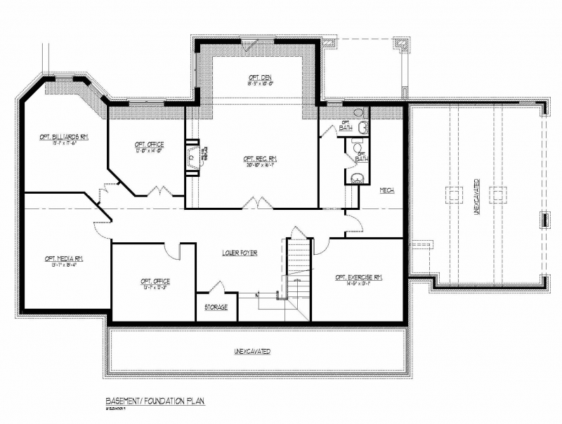 The Ballentine by JMB HOMES Basement plans