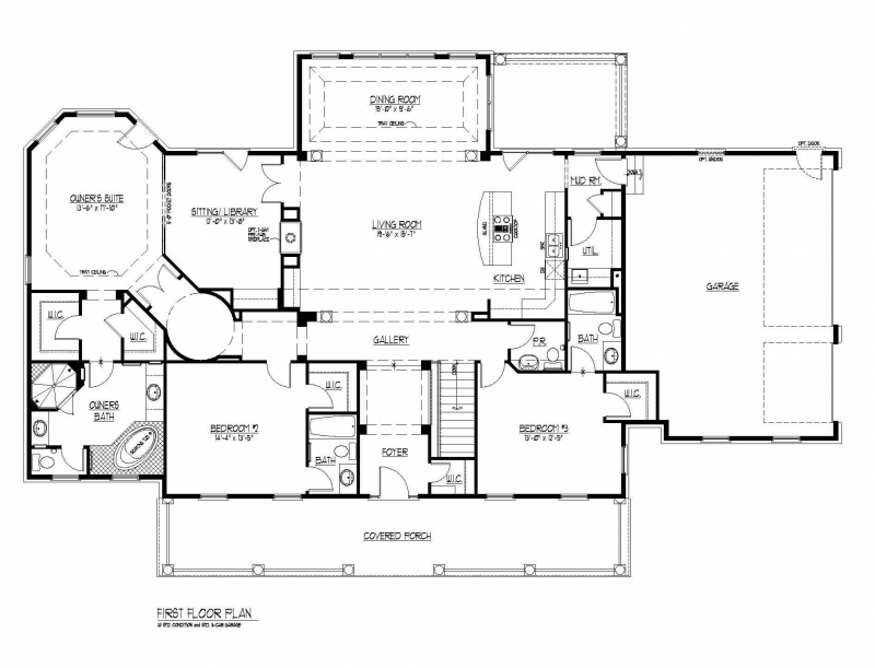 The Ballentine by JMB HOMES first floor plans