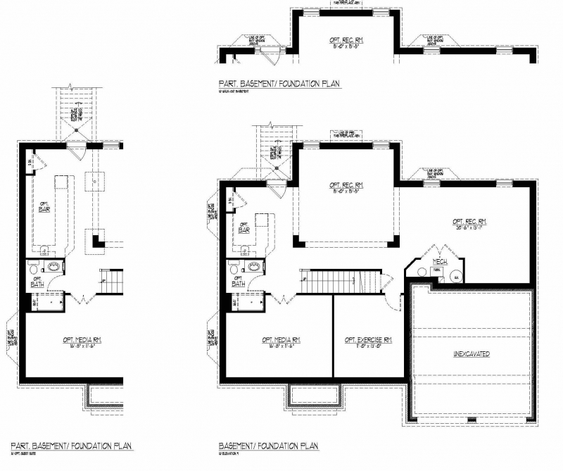 The Marimar by JMB HOMES basement floor plans