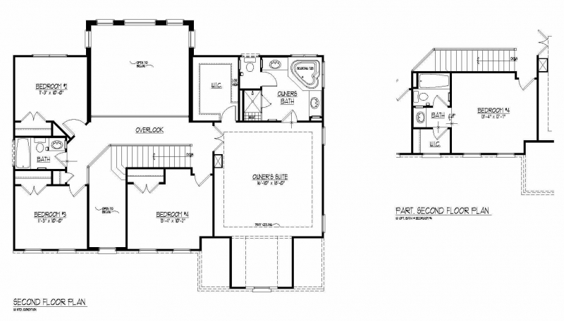The Lorimar by JMB HOMES second floor plans