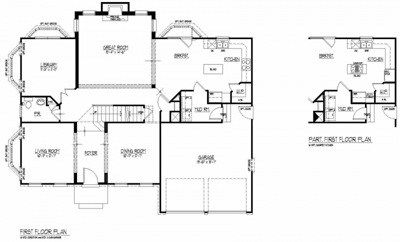 The Lorimar by JMB HOMES first floor plans