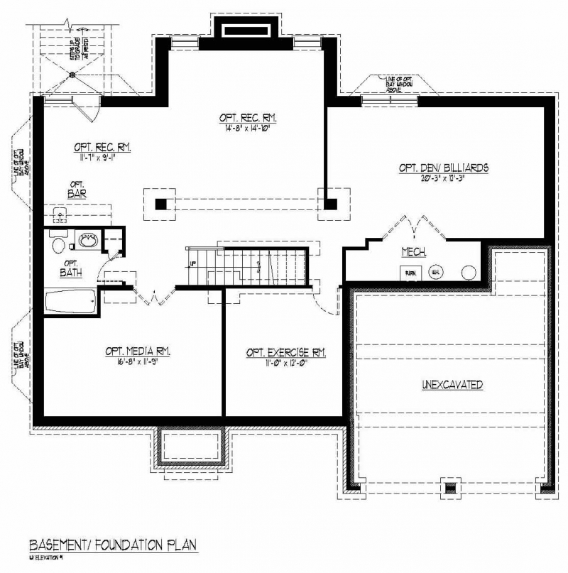 The Lorimar by JMB HOMES basement floor plans