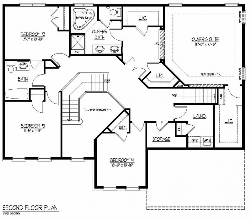 The Kameron by JMB HOMES second floor plans