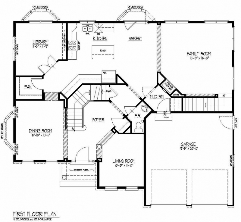 The Kameron by JMB HOMES first floor plans