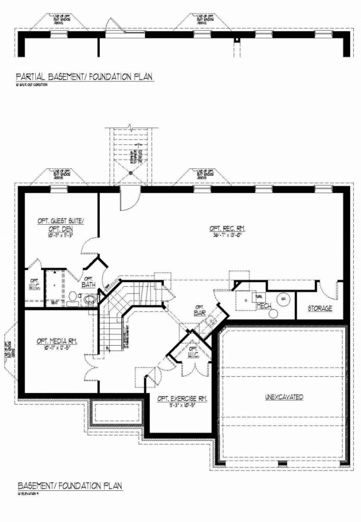 The Kameron by JMB HOMES basement floor plans
