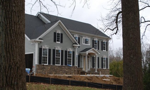 Custom Home in Timonium construction side