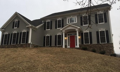 Custom Home in Timonium construction front