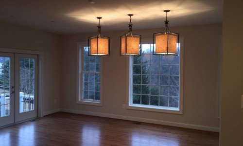 Custom Home in Timonium dining room lighting