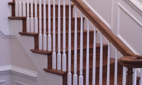 Custom Home in Timonium stairs