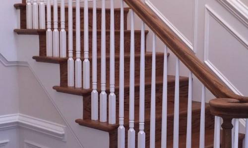 Custom Home in Timonium stairs