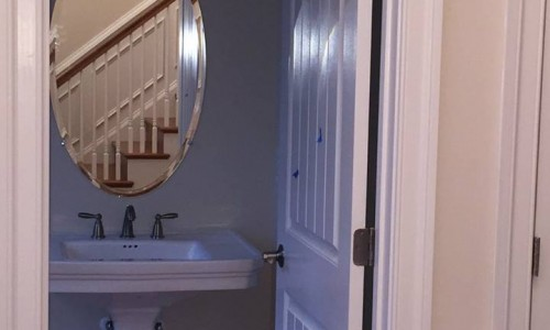 Custom Home in Timonium half bath