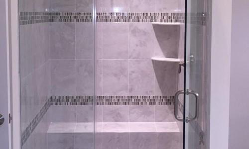 Custom Home in Timonium shower
