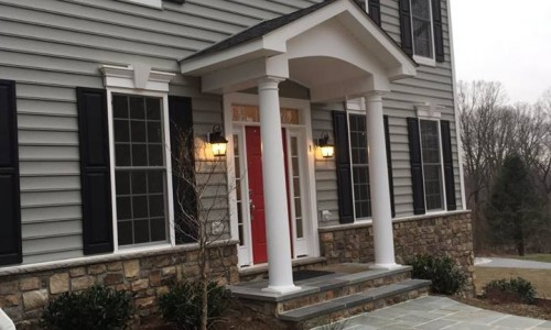 Custom Home in Timonium Front door