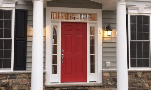 Custom Home in Timonium Front door 2