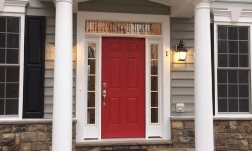 Custom Home in Timonium Front door 2