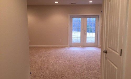 Custom Home in Timonium basement