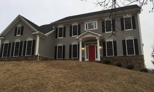 Custom Home in Timonium outside