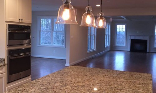 Custom Home in Timonium kitchen lighting