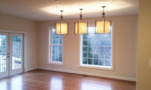 Custom Home in Timonium dining lights