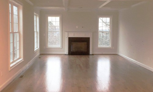 Custom Home in Timonium fireplace