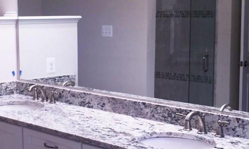 Custom Home in Timonium bathroom counter