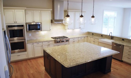 Custom Home, Sonoma in Carroll County kitchen island