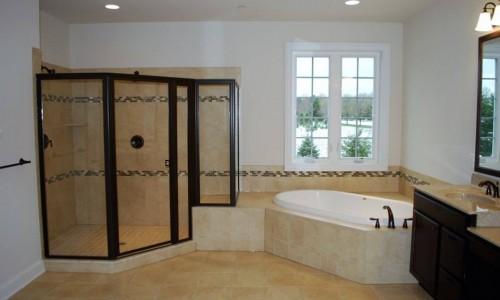 Custom Home, Sonoma in Carroll County Master Bath