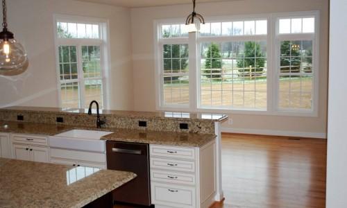 Custom Home, Sonoma in Carroll County kitchen windows