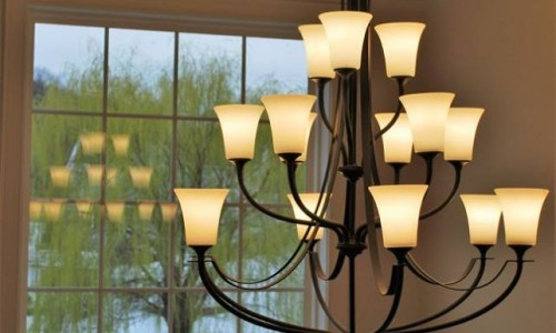 Custom Home, Sonoma in Carroll County chandelier