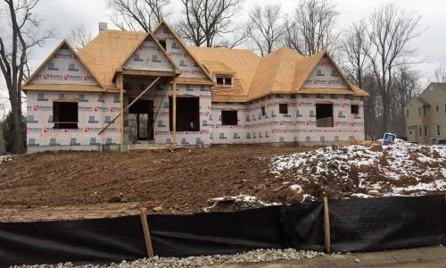 Worthington Valley, custom home, construction front