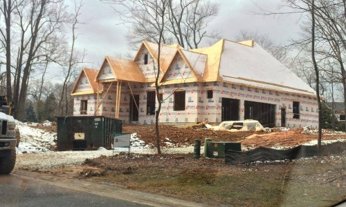 Worthington Valley, custom home, construction side