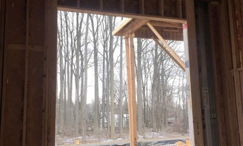 Worthington Valley, custom home, construction window