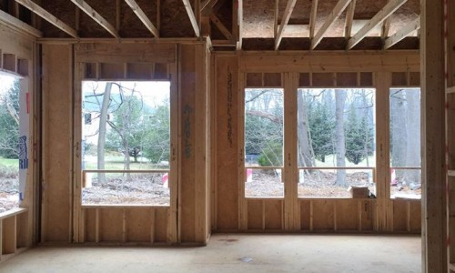 Worthington Valley, custom home, construction windows